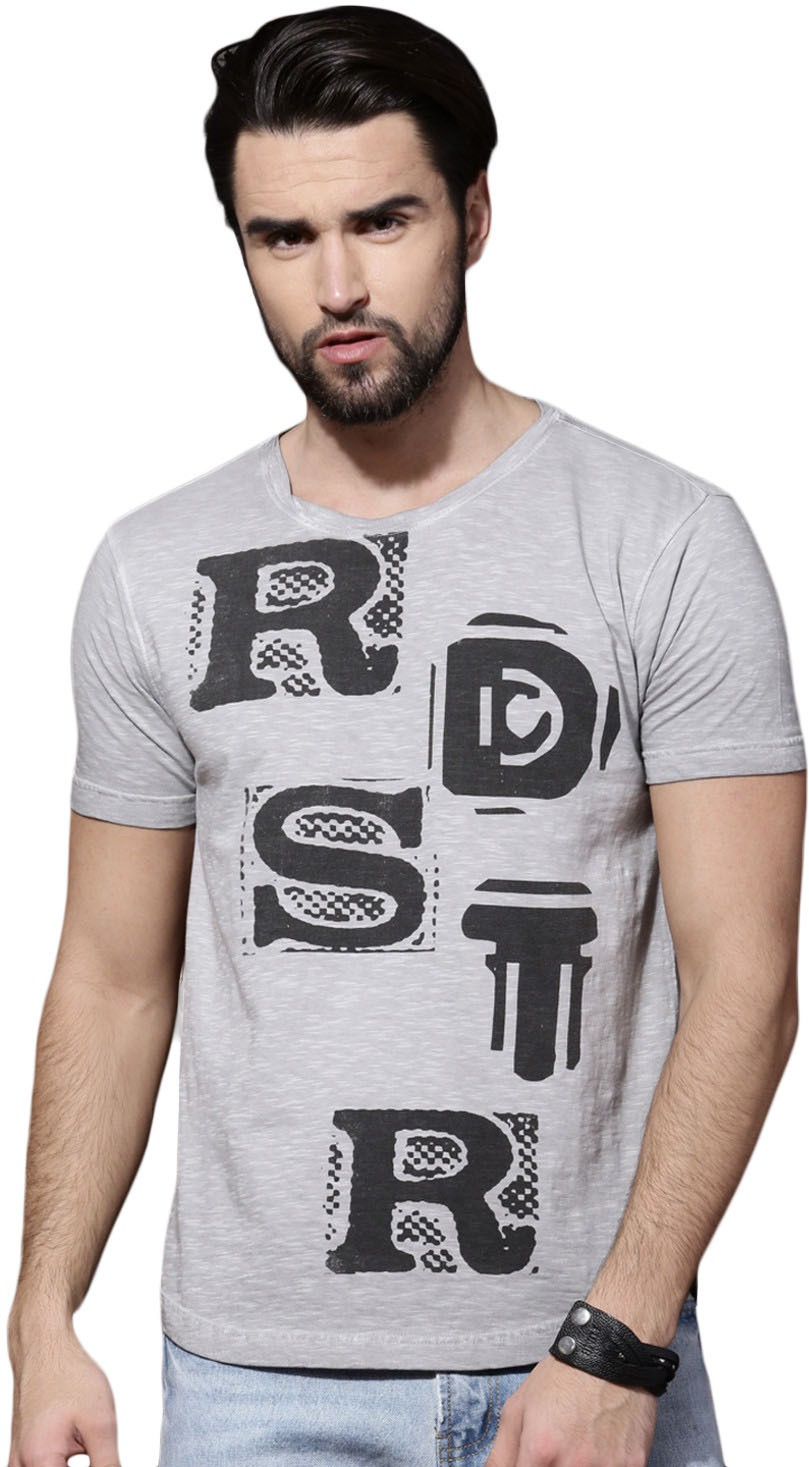 a7125cc97d1f Roadster: Graphic Print Round Neck T-Shirt (Grey) - Price Fashion